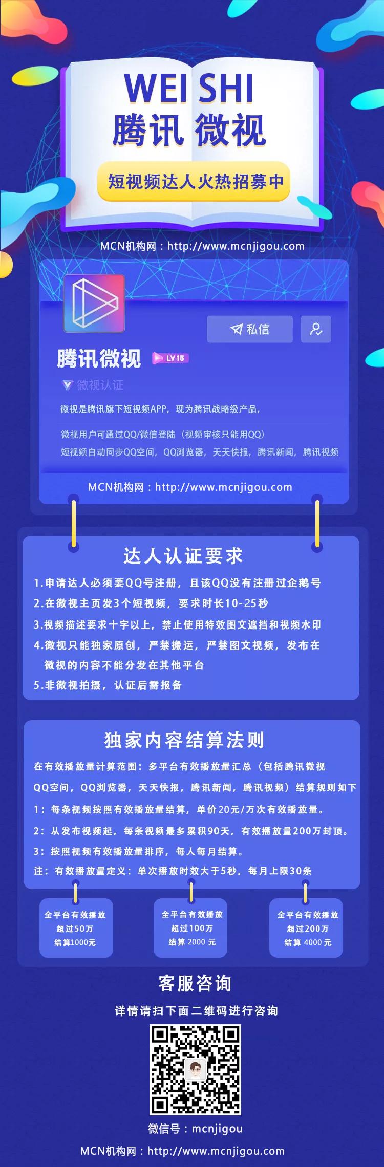 2019年<a href='http://mcnjigou.com/?tags=2'>微视</a>认证达人攻略以及补贴规则说明!